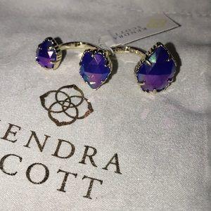 Kendra Scott Cobalt Iridescent Naomi Ring S/M NWT